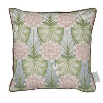 Angel Strawbridge Cushion Lily Garden 43x43cm Eau De Nil