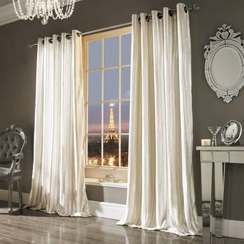 Kylie Minogue Iliana Curtains Oyster Velvet 90x72