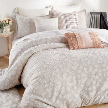 photo of Peri Home Clipped Floral Textured Duvet Cover Double