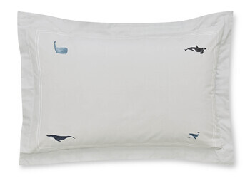 photo of Sophie Allport Whale Oxford Pillowcase Pair