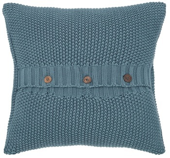 Joules Moss Stitch Teal Knit Cushion