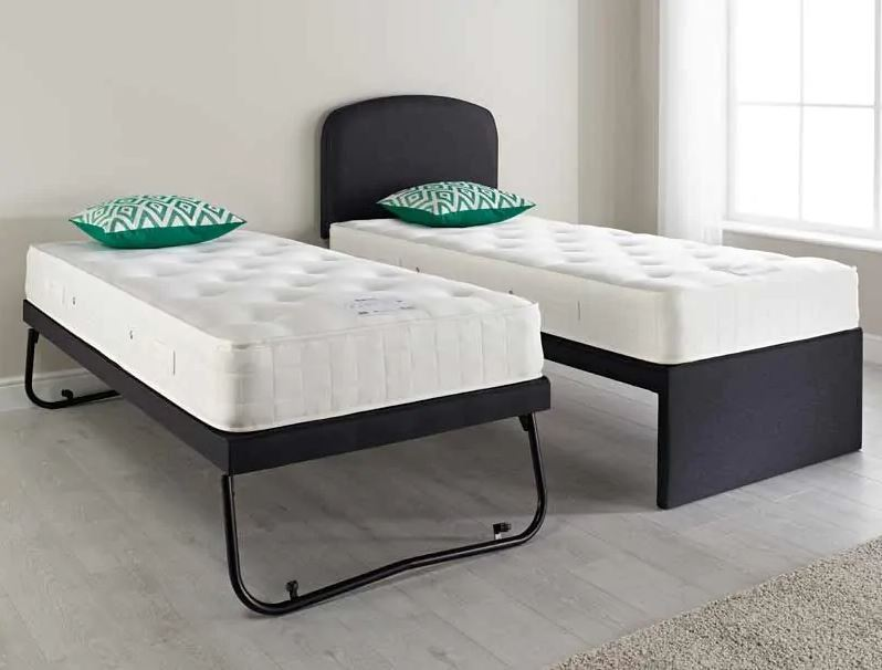 Relyon Guest Bed Coil Mattresses Headboard Single Steel