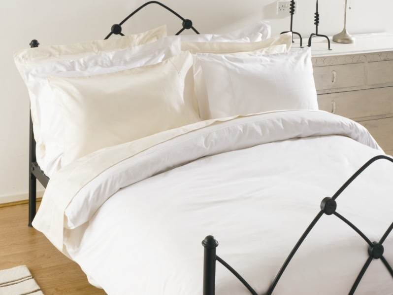 1000 TC Luxury Egyptian Cotton Duvet Cover white and ivory