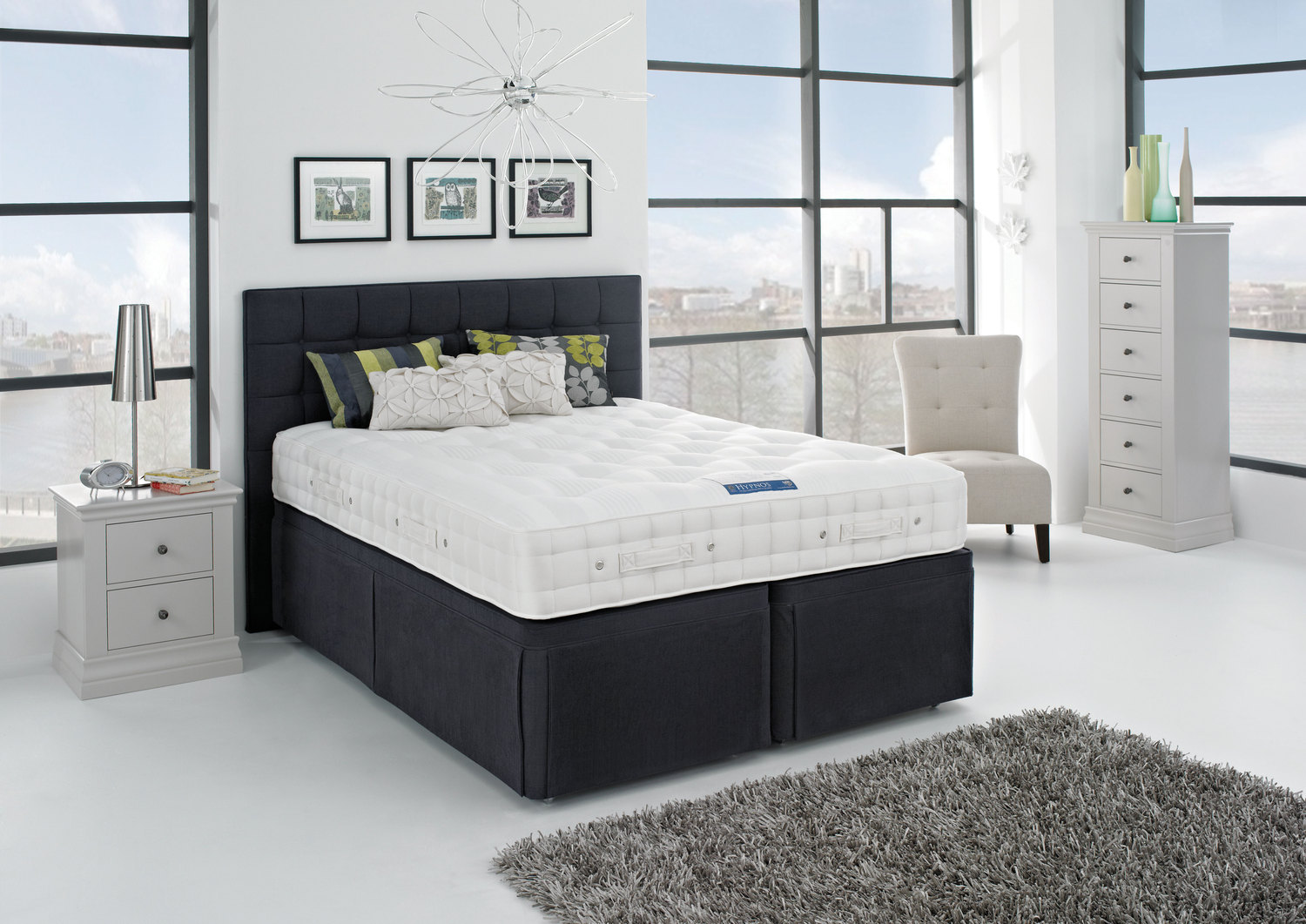 Hypnos orthocare 10 mattress firm from for King size divan bed without mattress