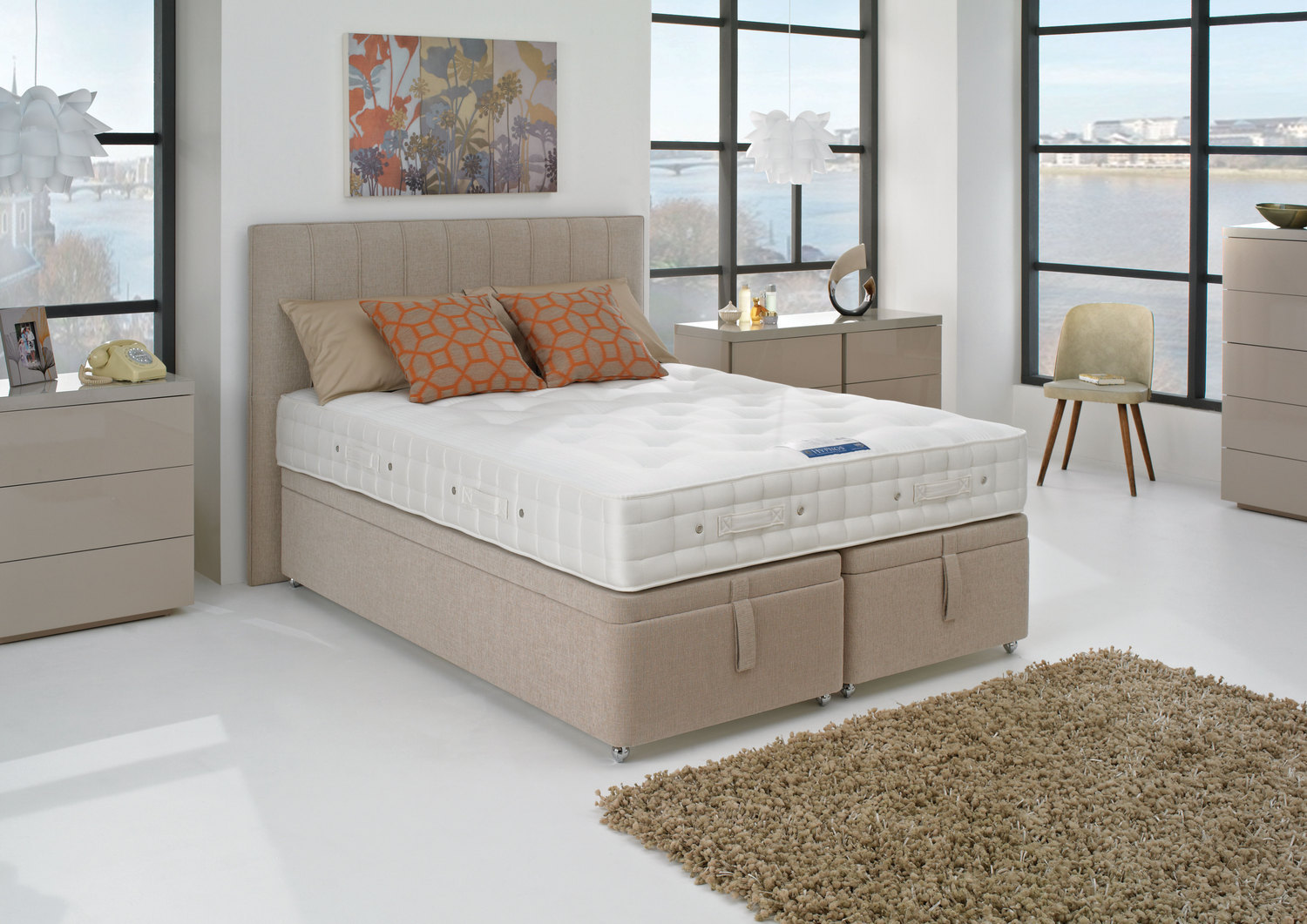 Hypnos orthocare 8 divan bed firm from for Double divan bed with firm mattress