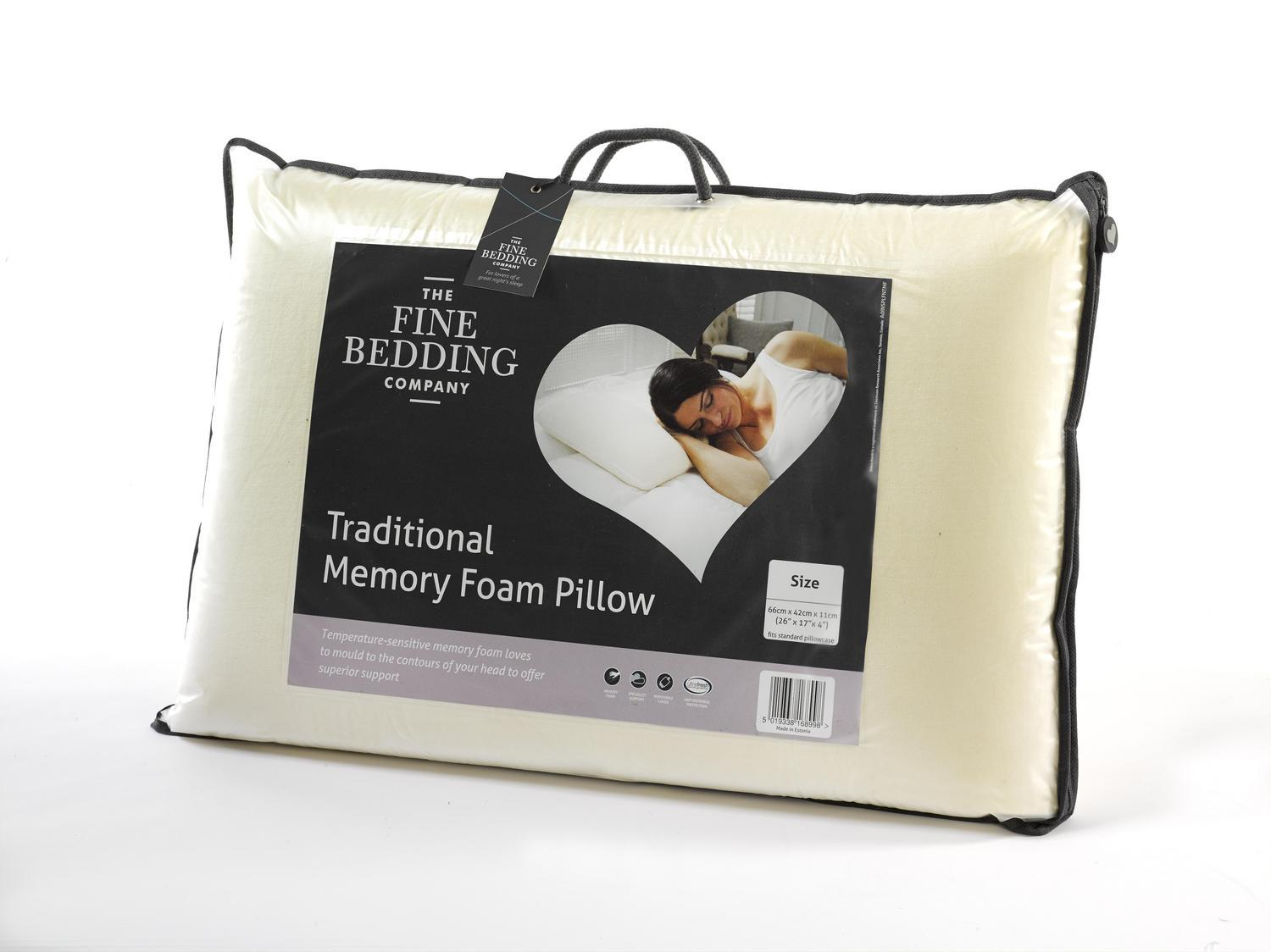 The Fine Bedding Company Traditional Memory Foam Pillow