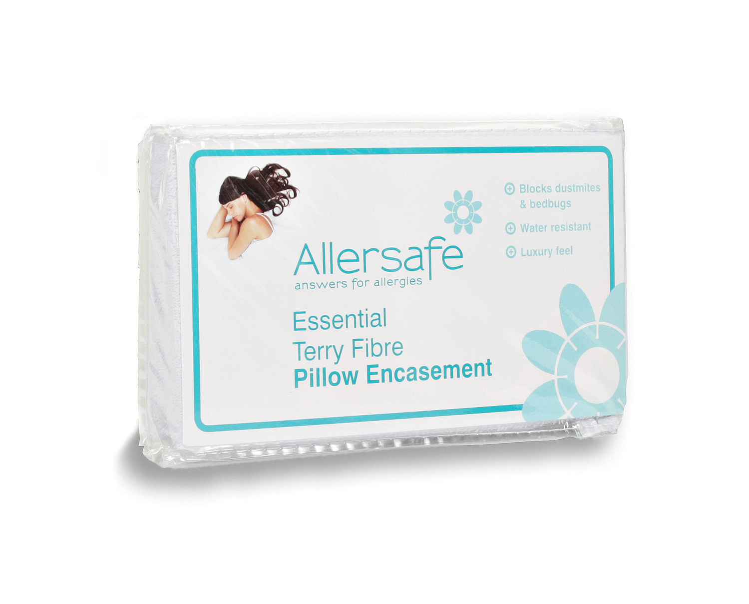 Anti Bed Bug & Allergy Pillow Encasement Terry Essential