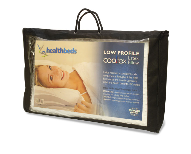 Healthbeds Latex Pillow Low Profile