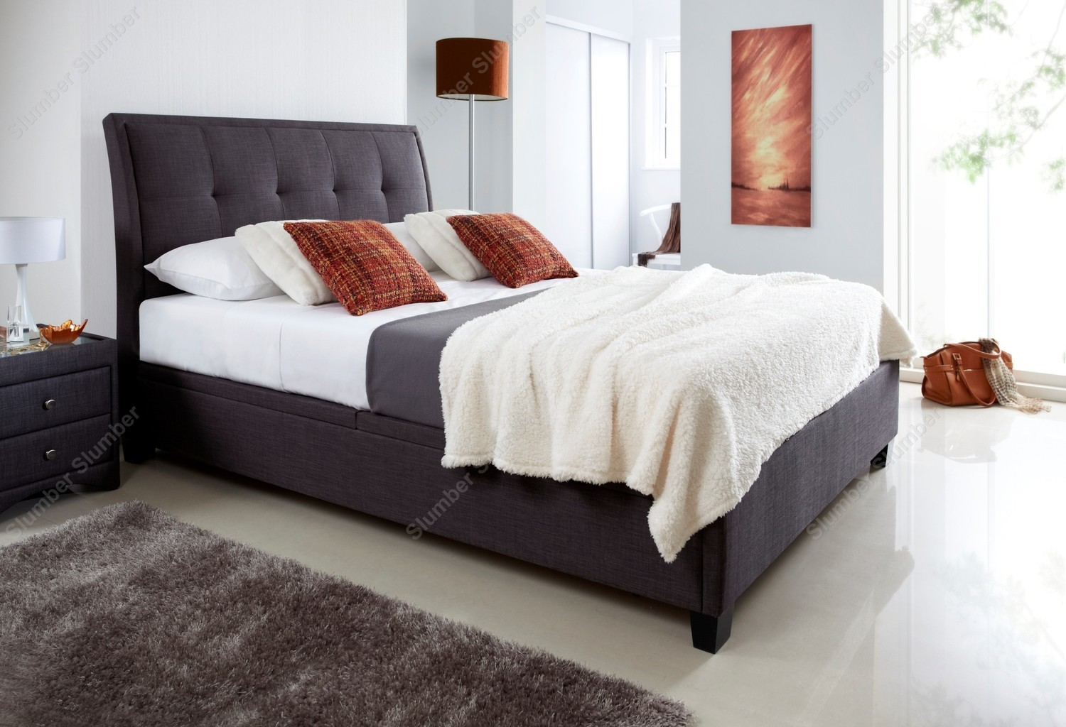 Kaydian Accent Ottoman Bed Frame From SlumberSlumber.com