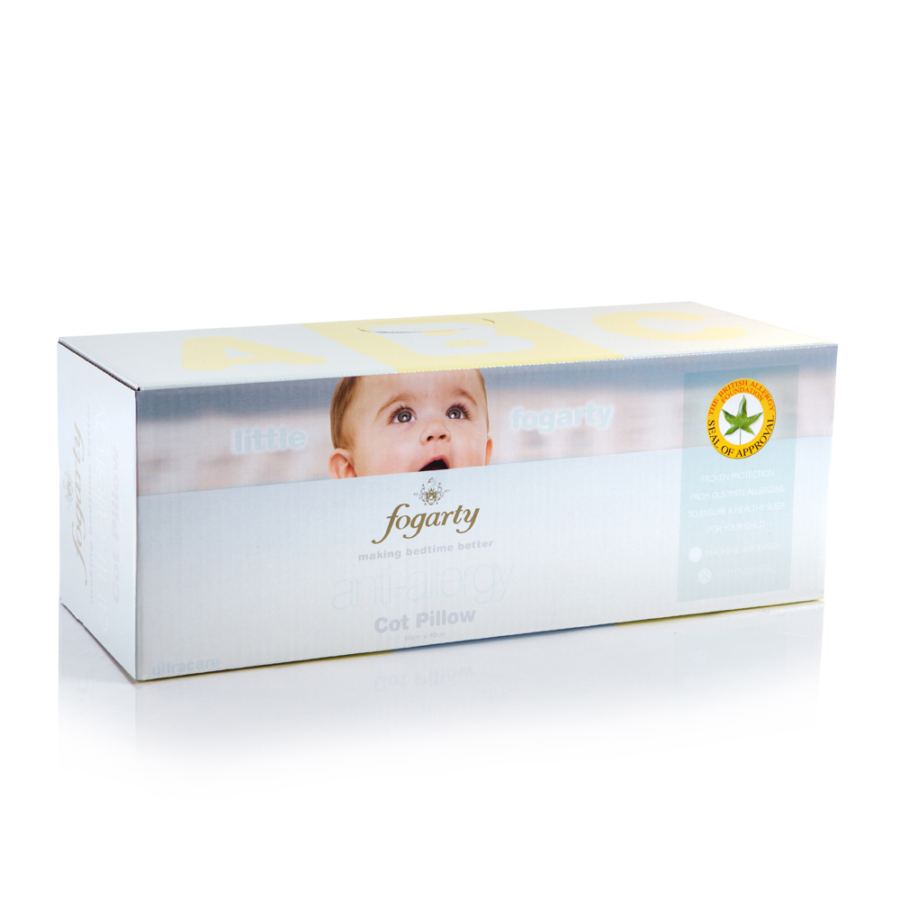 Little Fogarty Anti Allergy Cot Pillow (Save ££s)
