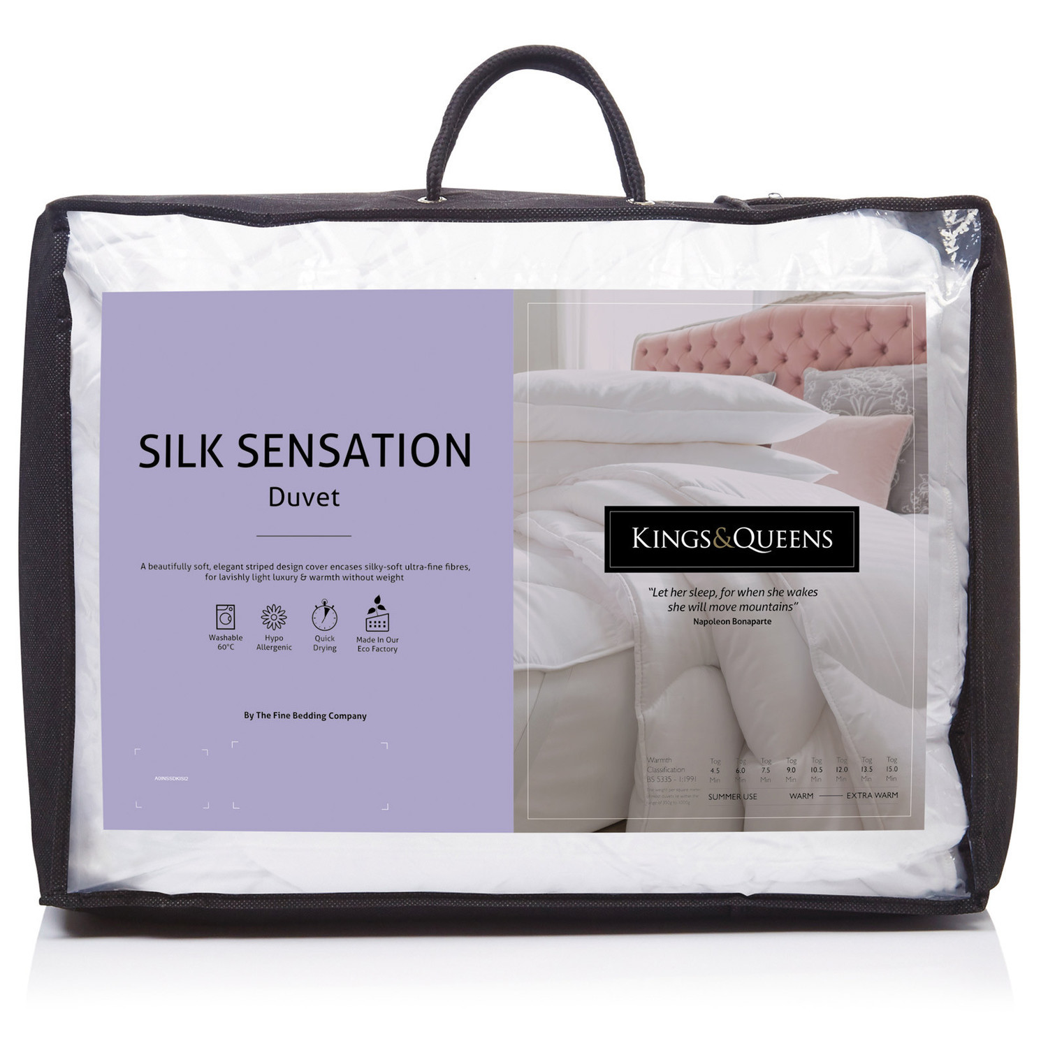 Fine Bedding Co Kings & Queens Silk Sensation Duvet