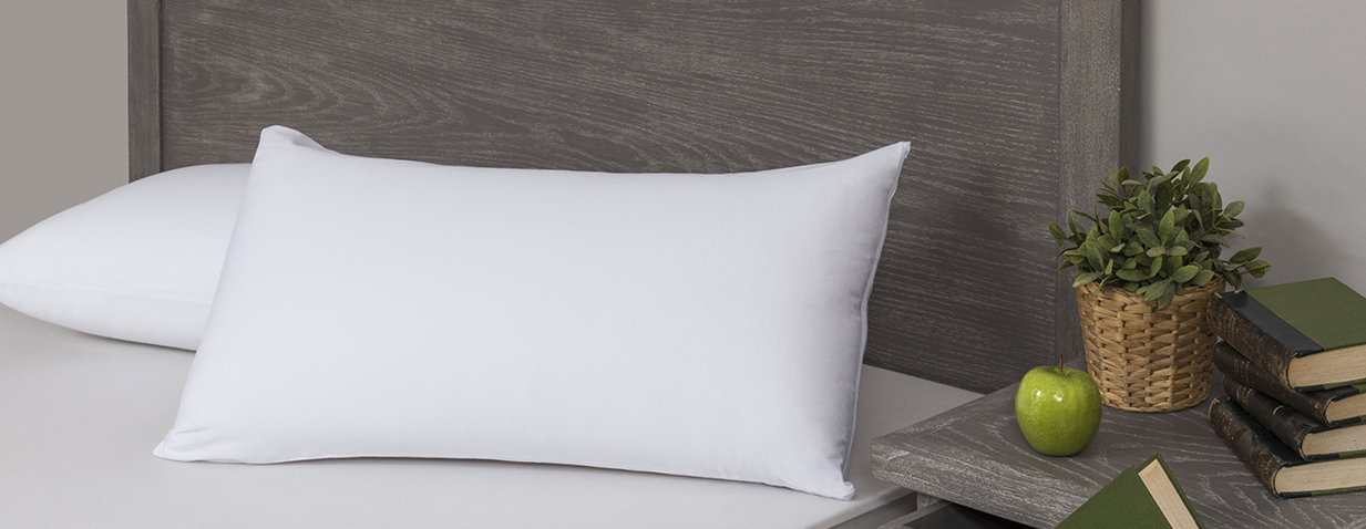 Velfont Respira Organic Cotton 2 in 1 Pillow Cover and Protector White