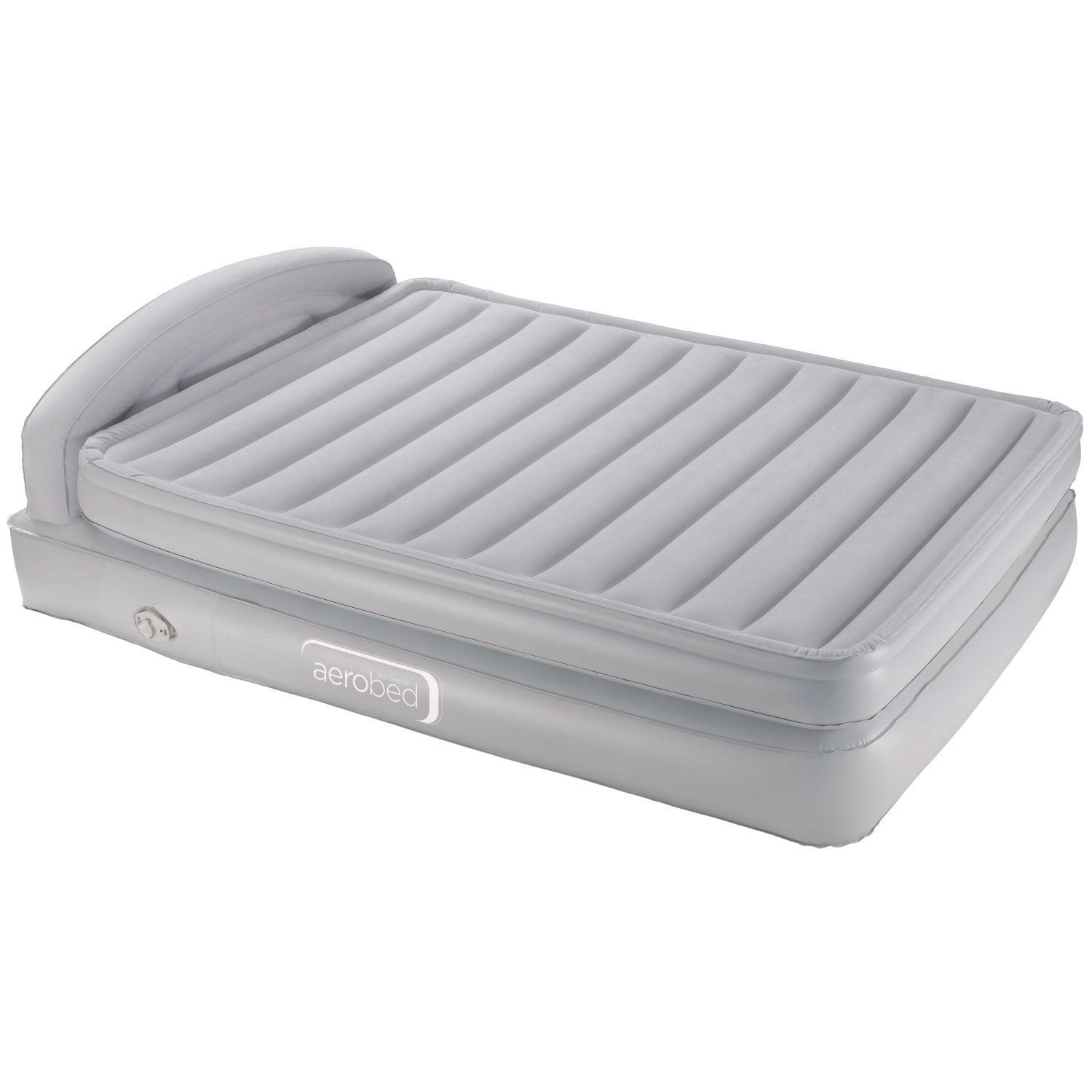air bed raised in electric itm quilted queen resource with built cover mattress intex pump