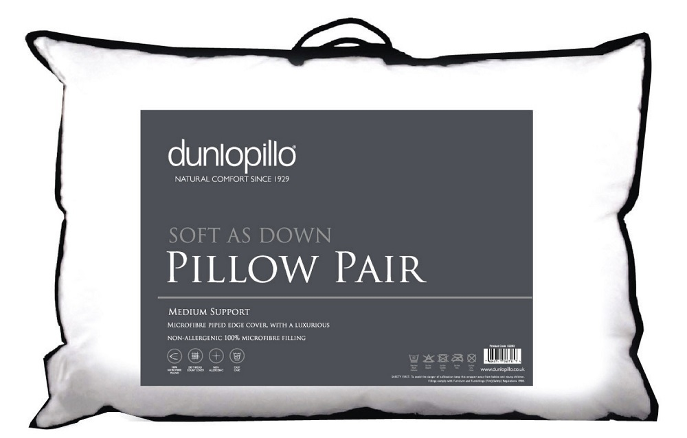 Dunlopillo Soft As Down Pillow Pair (£24.99)