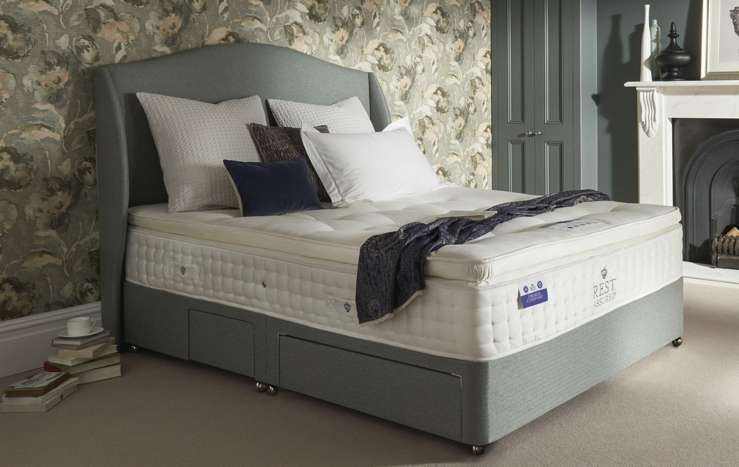 rest assured apsley latex firmer comfort mattress from
