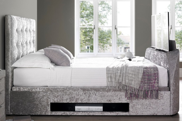Kaydian Barnard TV Bed With Ottoman Storage Side Lift from ...