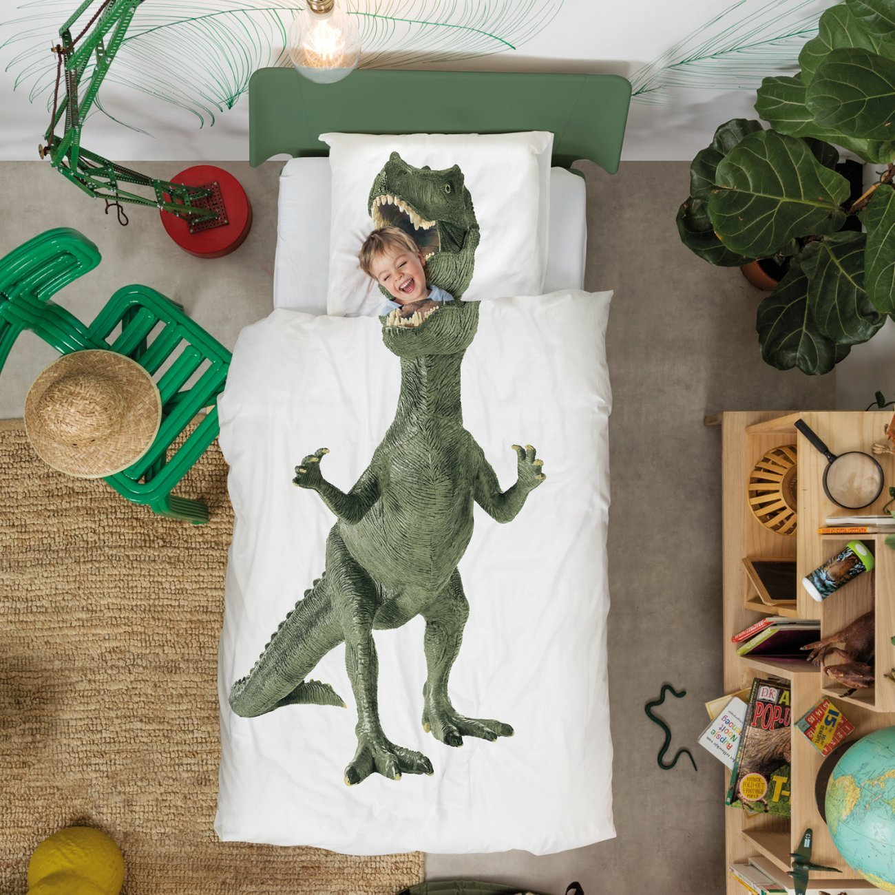 Snurk Dinosaurus Rex Duvet Cover & Pillowcase