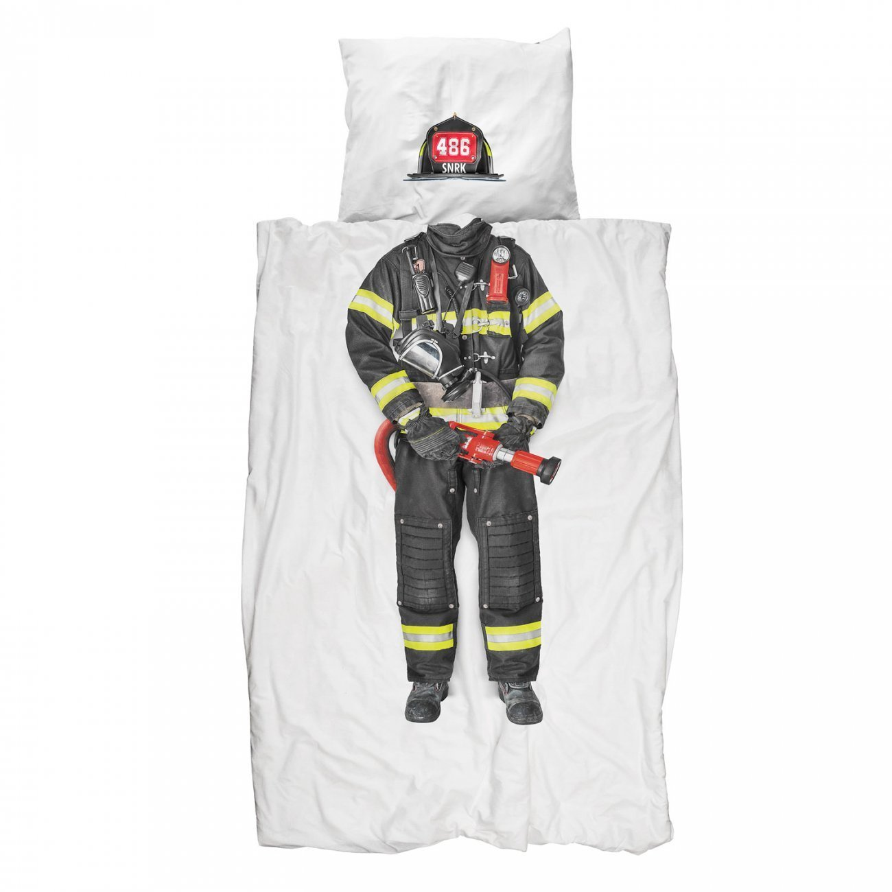 Snurk Firefighter Duvet Cover & Pillowcase