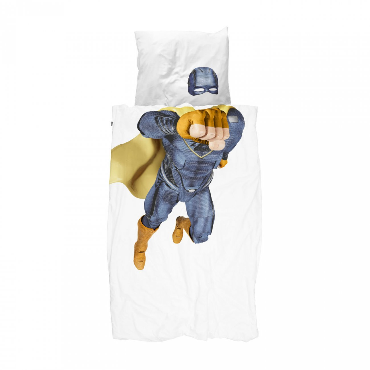 Snurk Superhero Duvet Cover & Pillowcase Blue