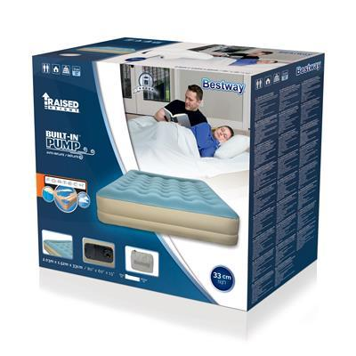 Bestway Refined Fortech King Airbed Built-In AC Pump