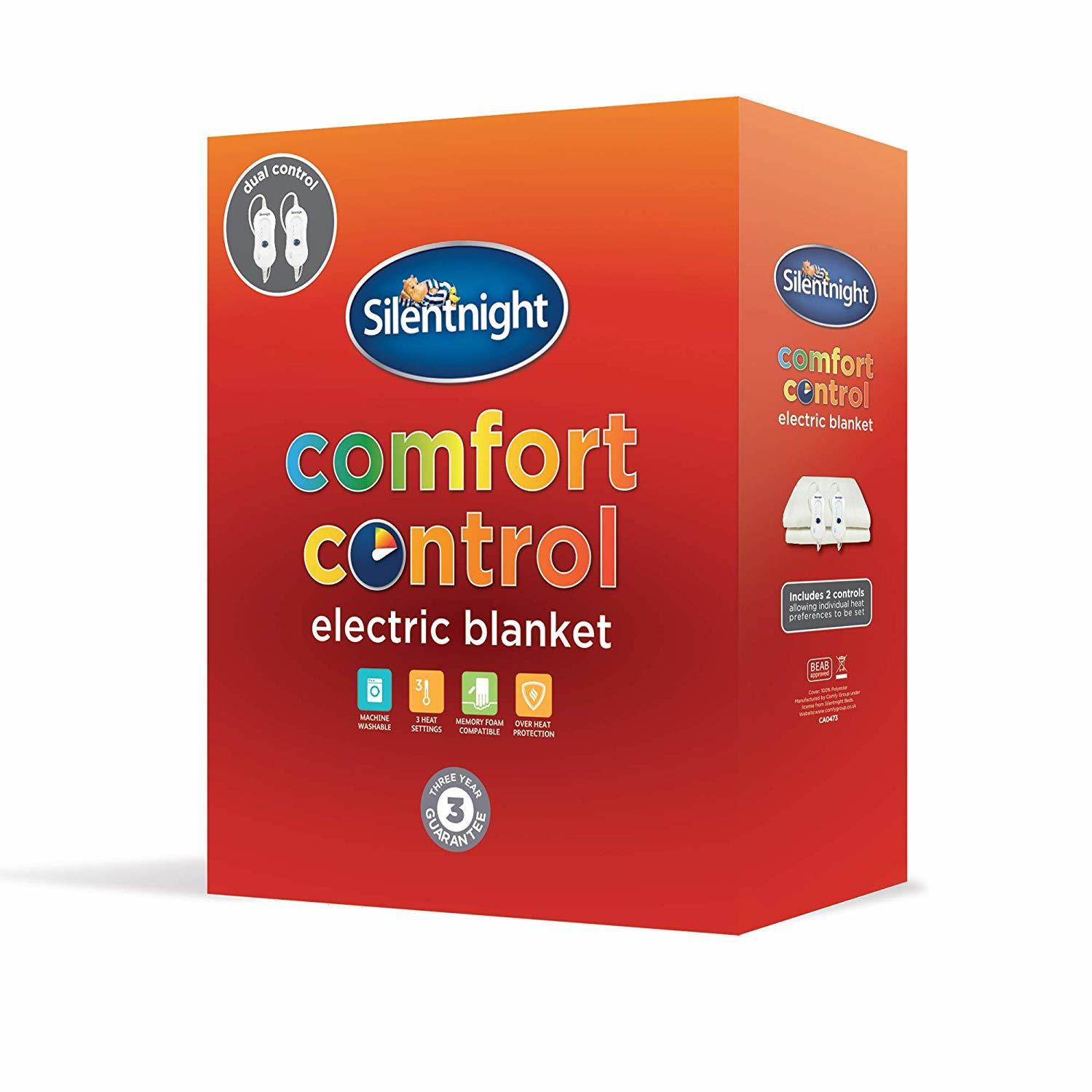 Silentnight Dual Control Double Electric Blanket Comfort Control