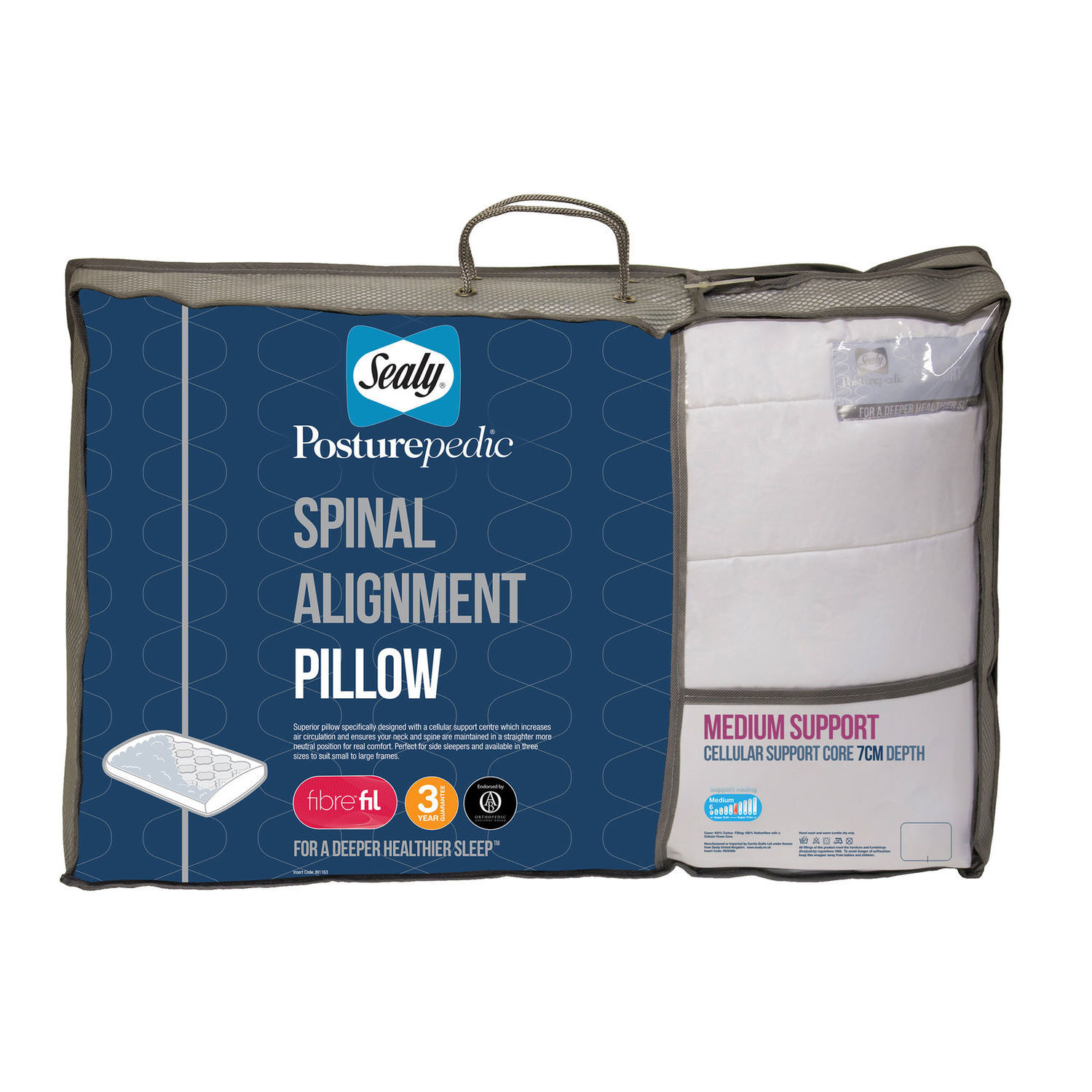 Sealy Spinal Alignment Pillow 7cm