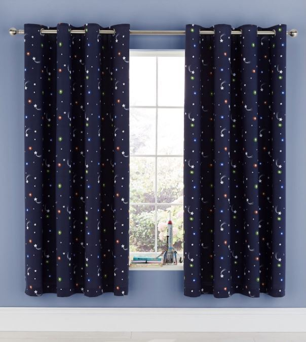 Catherine Lansfield Happy Space Curtains