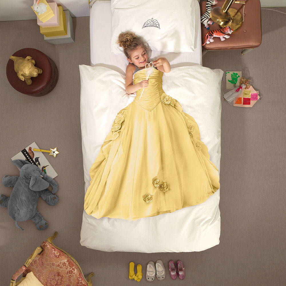 Snurk Princess Duvet Cover & Pillowcase Yellow