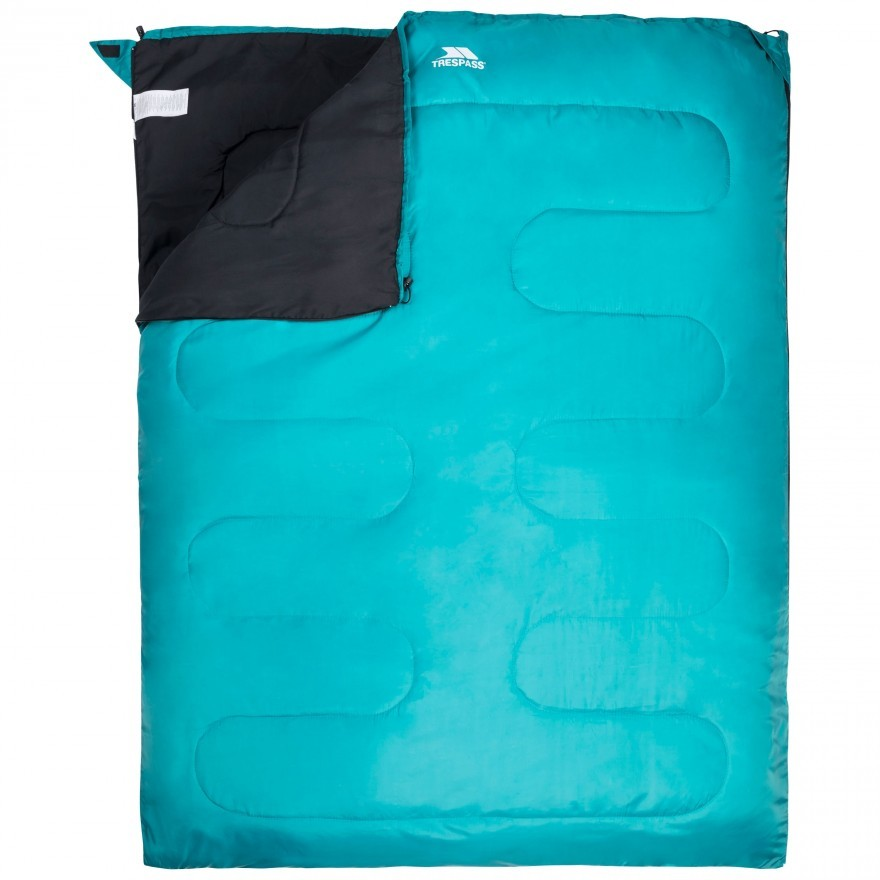 Trespass Catnap 3 Season Double Sleeping Bag - Jade
