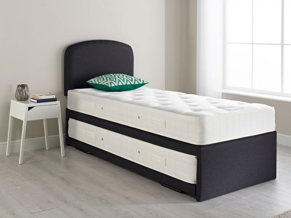 Relyon Guest Bed Upholstered Coil Mattresses Headboard