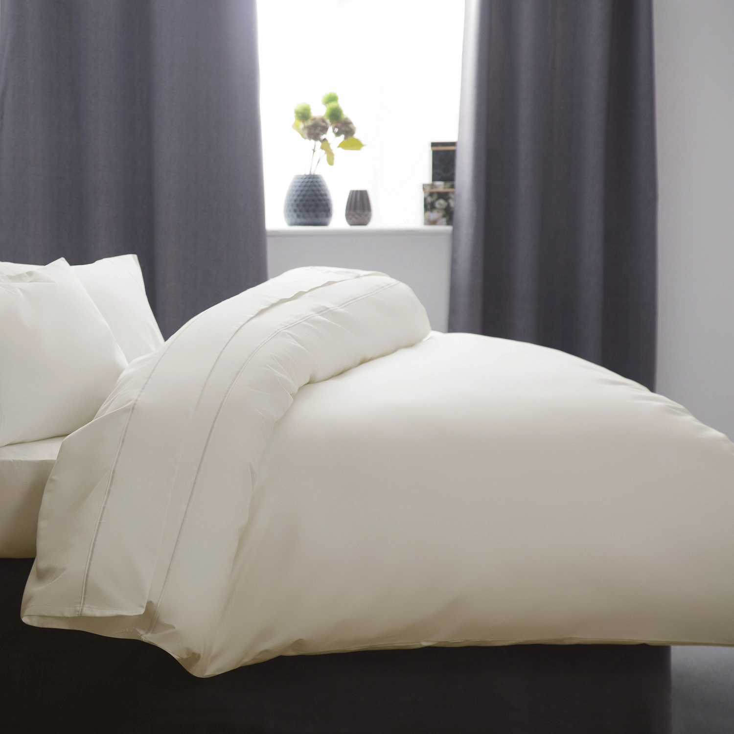 1000 TC Luxury Egyptian Cotton Duvet Cover ivory