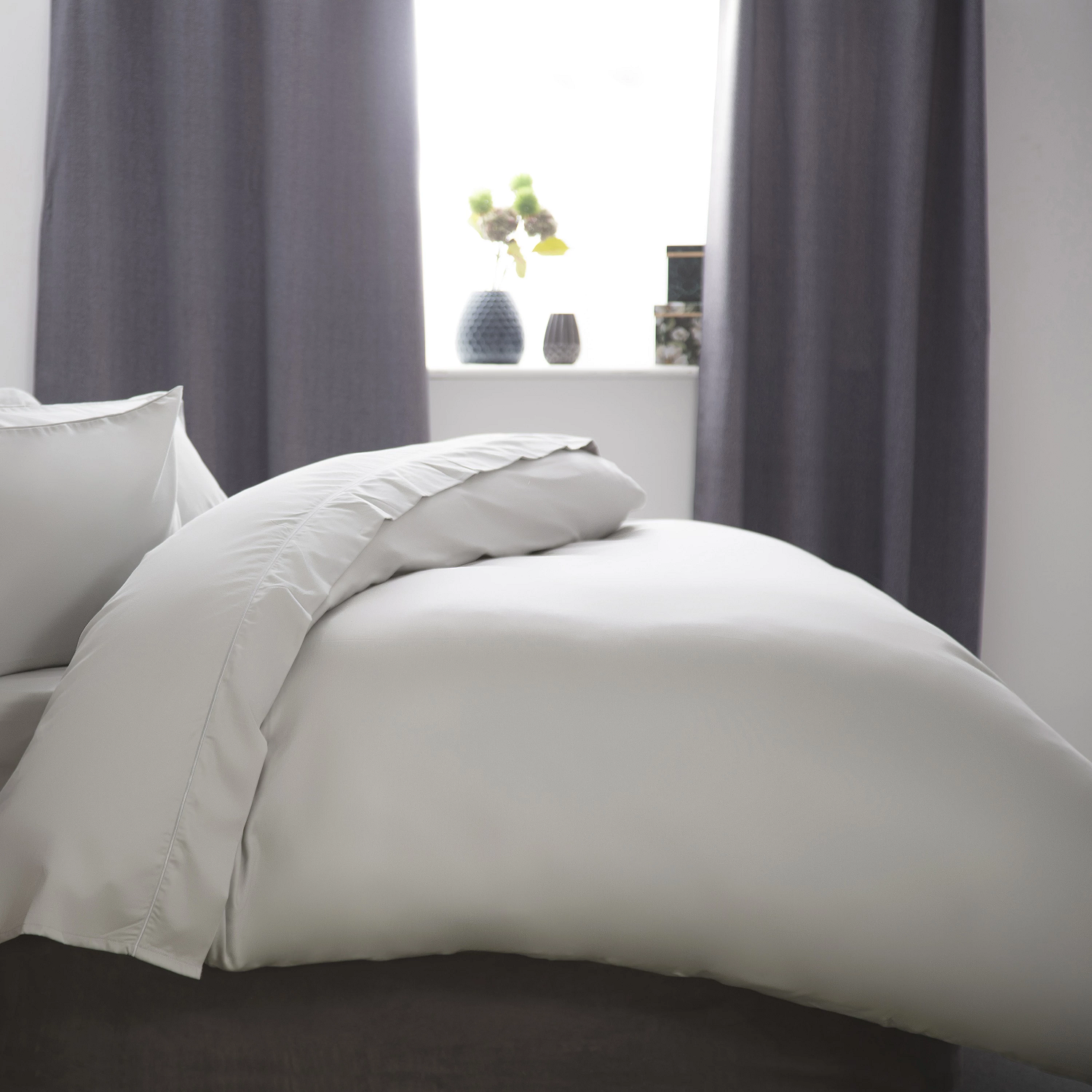 1000 TC Luxury Egyptian Cotton Duvet Cover platinum