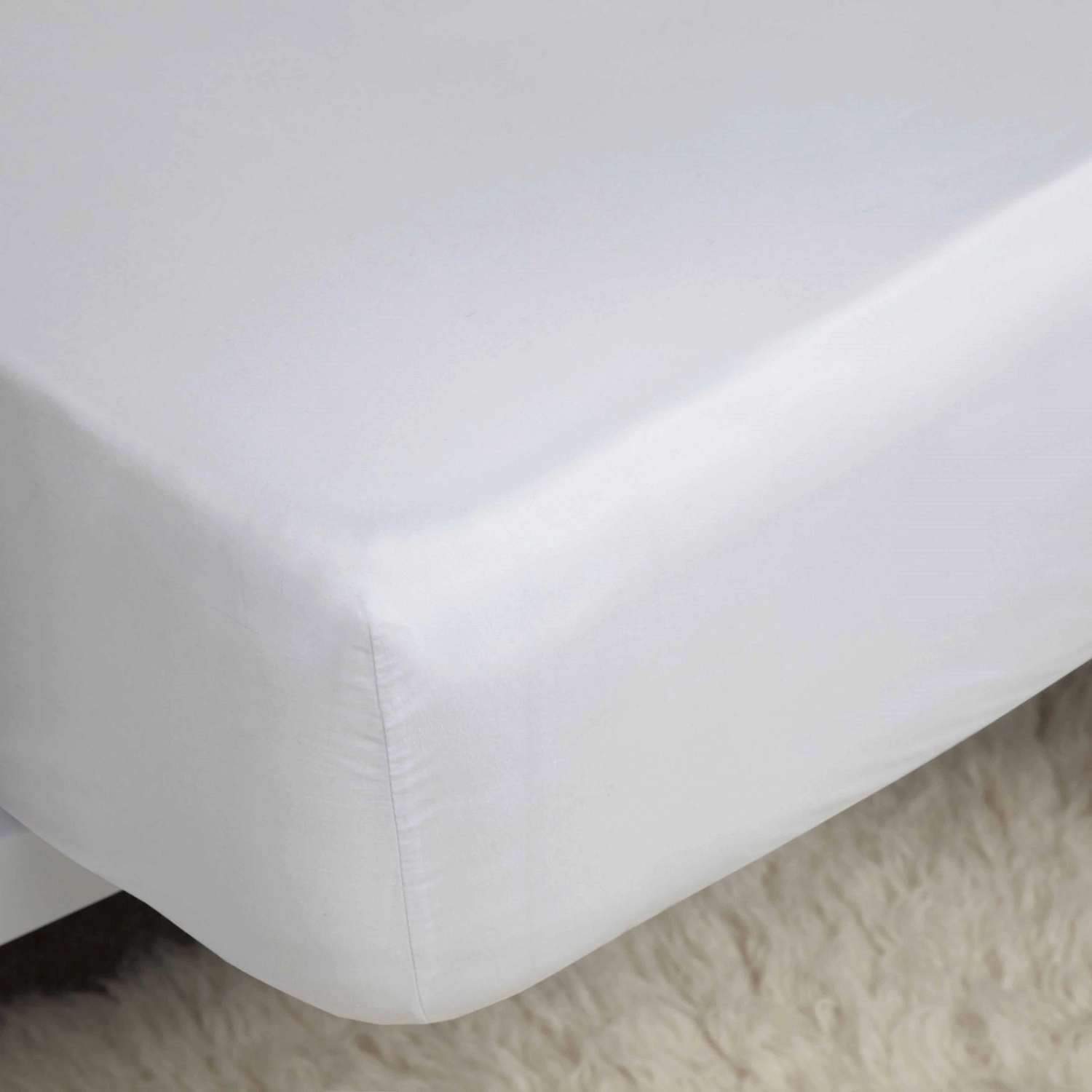 Belledorm 1000TC Egyptian Cotton Fitted Sheet white