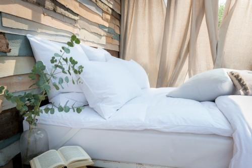 The Fine Bedding Co Duck Feather & Down Mattress Topper