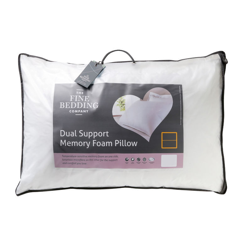 The Fine Bedding Co Dual Support Memory Foam Pillow
