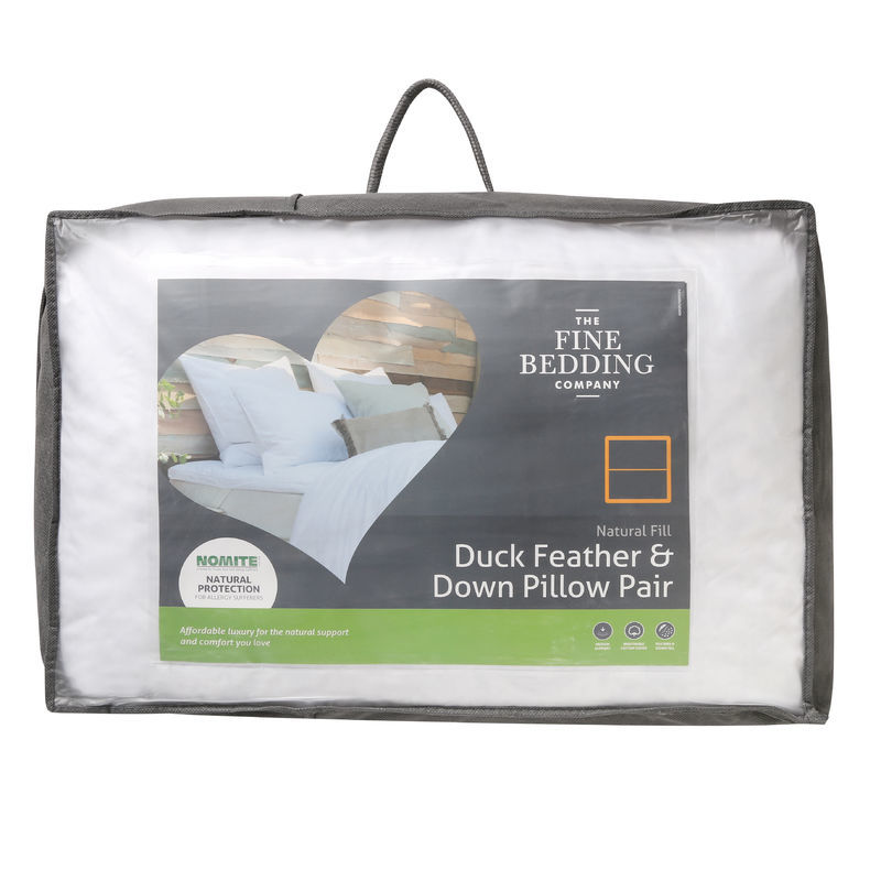The Fine Bedding Company Duck Feather & Down Pillow Pair