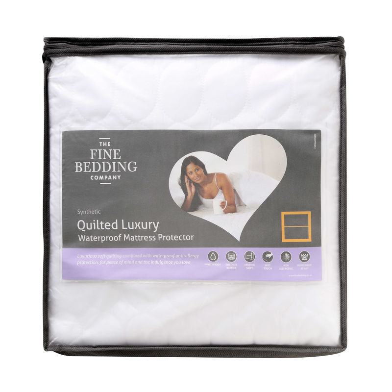The Fine Bedding Co Quilted Luxury Waterproof Mattress Protector