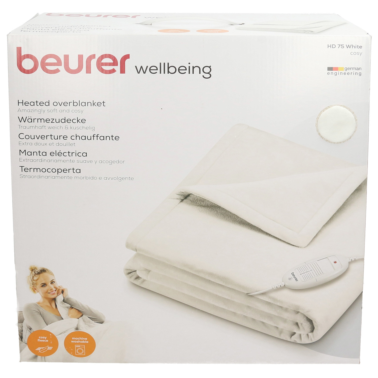 Beurer Cosy Electric Heated Throw white