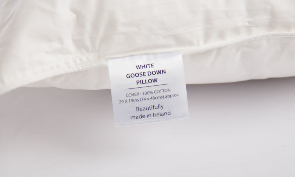 White Goose Down Pillow The Soft Bedding Company