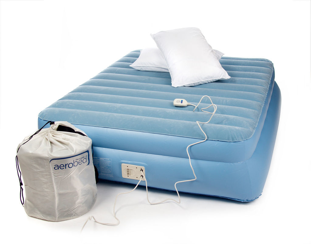 Aerobed Double Raised Airbed with Built-in Electric Pump