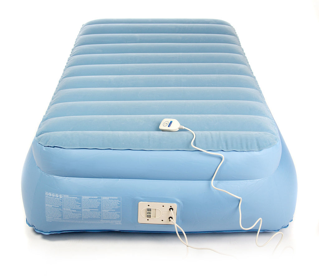 Aerobed Raised Single Air Bed with Built-in Electric Pump