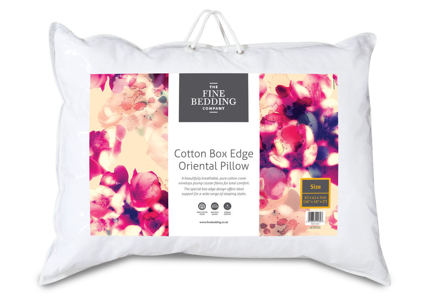 The Fine Bedding Company Cotton Box Edge Support Pillow