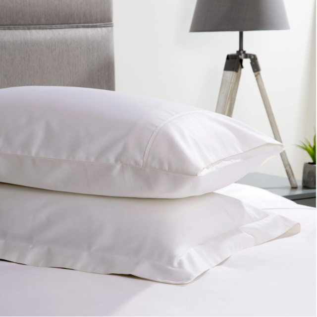 Belledorm 600TC Cotton Sateen Housewife Pillowcase white