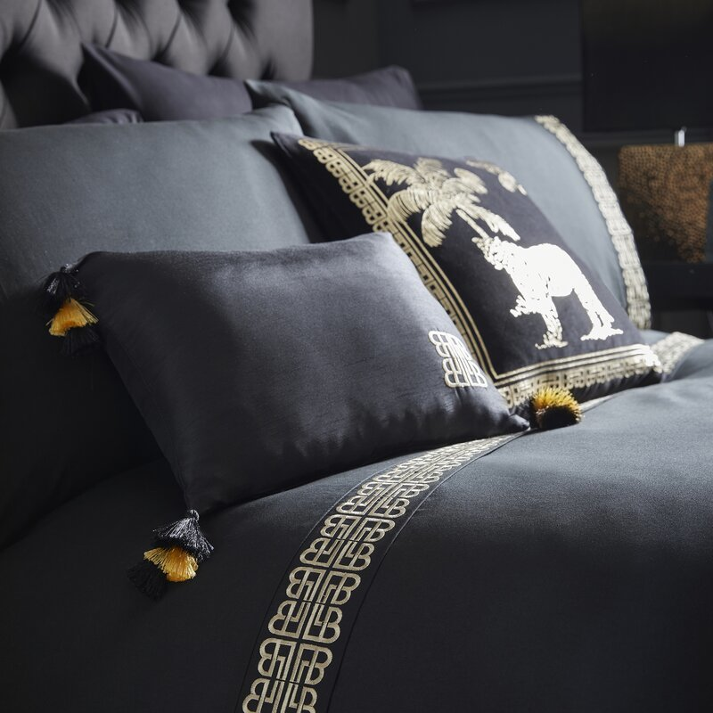 Laurence Llewelyn Bowen Monoglam Duvet Set Black & Gold