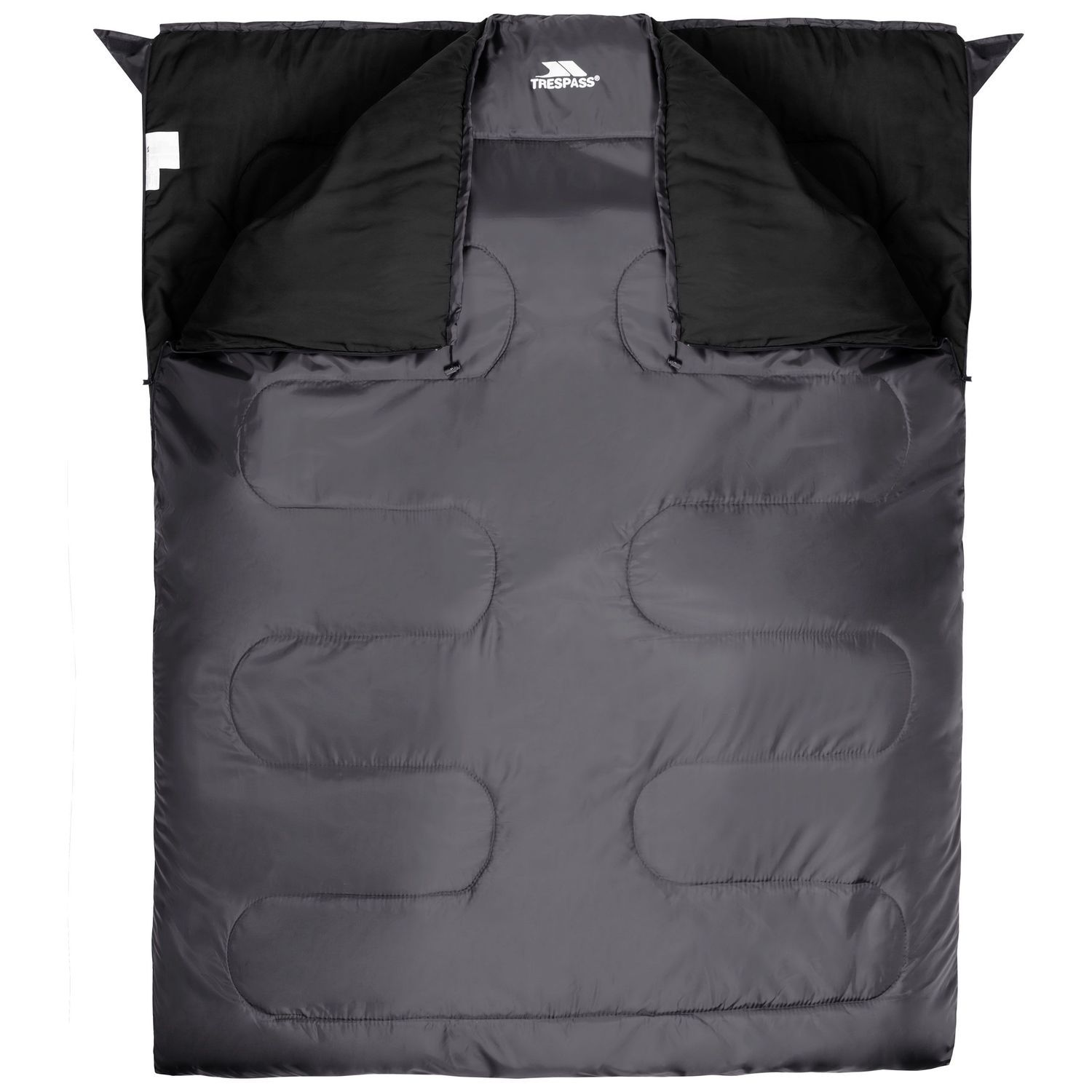 Trespass Catnap 3 Season Double Sleeping Bag - Granite