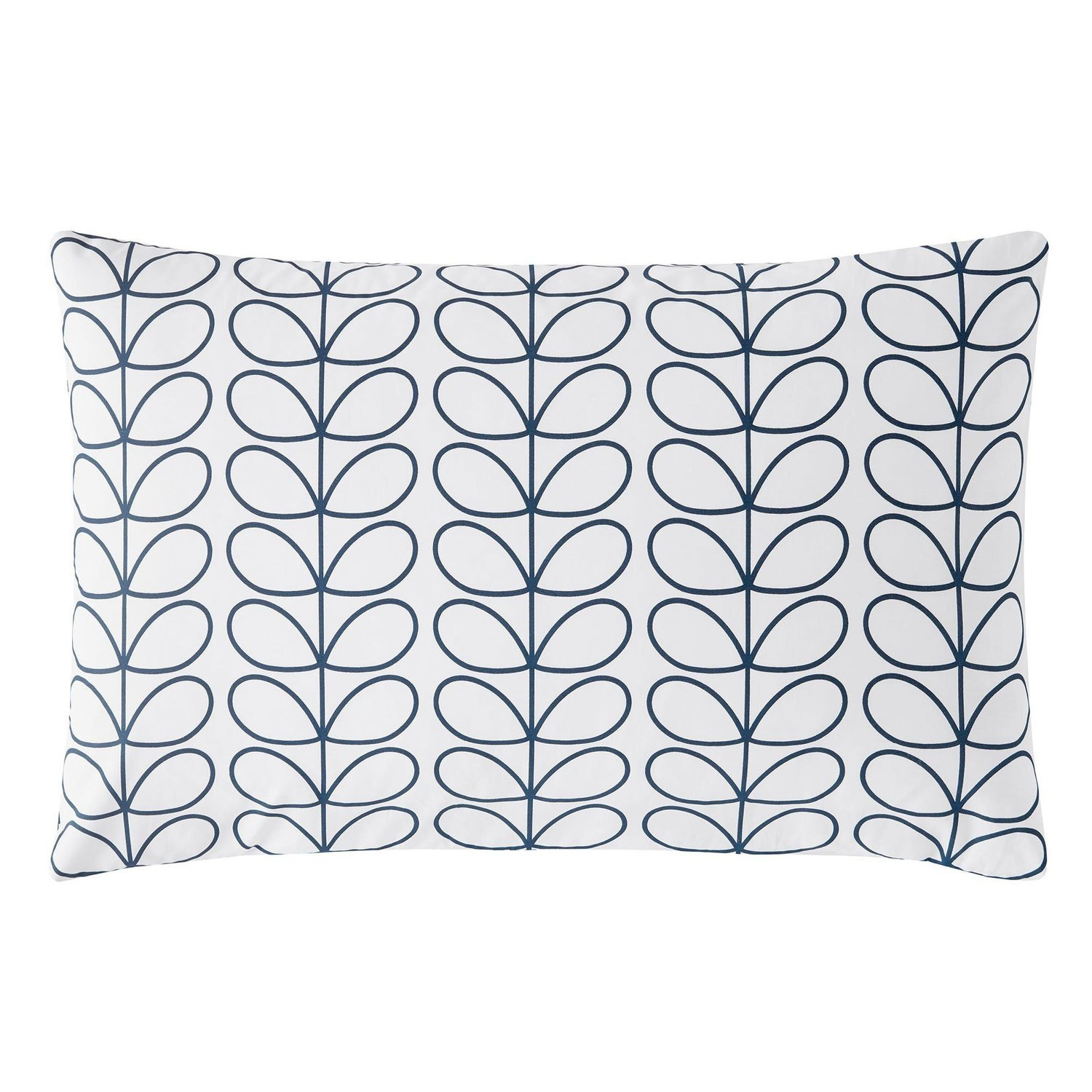 Orla Kiely Linear Stem Whale Blue Pillowcase Pair