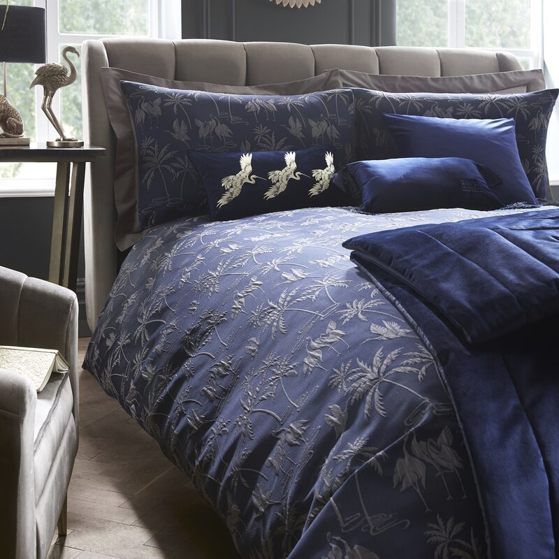 Laurence Llewelyn-Bowen Qing Duvet Cover Set Navy
