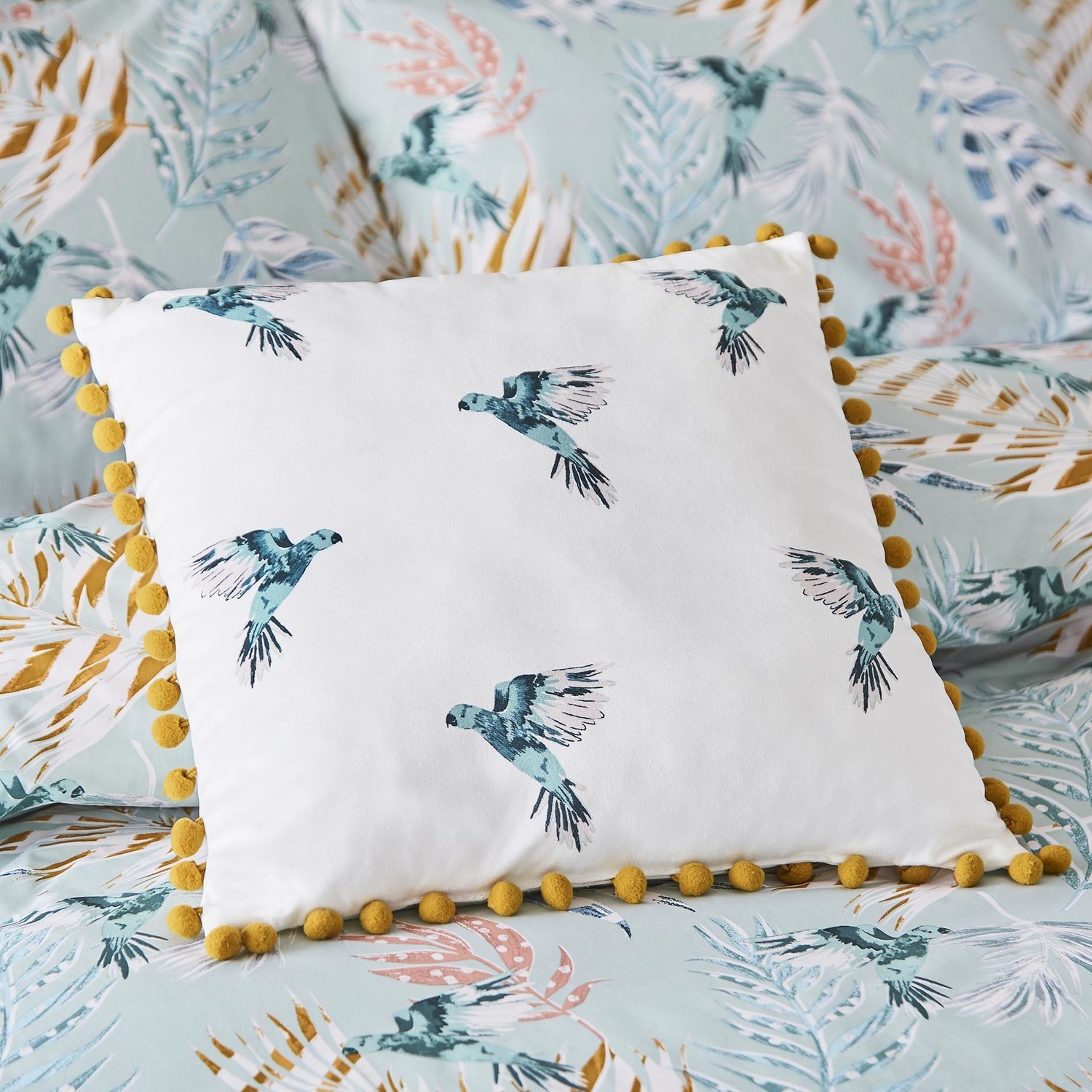 Fat Face Paradise Parrot Cushion