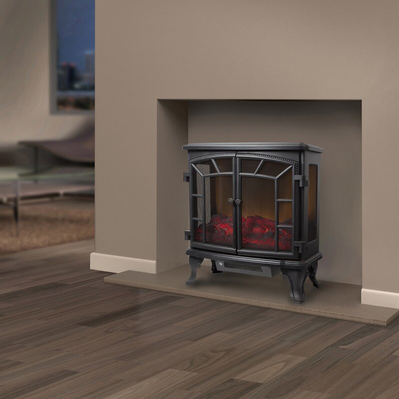 Warmlite Rochester 2kW Log Effect Electric Stove Black