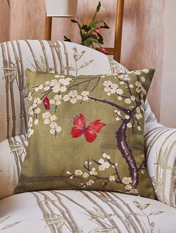 Angel Strawbridge Cushion Blossom & Butterfly